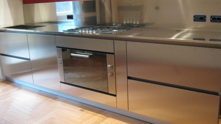 Poggi cucina 20 ottobre 09 002 C71 Linear kitchen centre width 345 Steellart