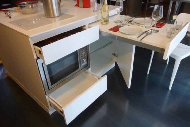 Qbetto  bianco cassetti  aperti  5 settembre 3x2 Cucine in acciaio Steellart Steellart