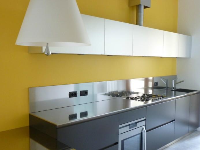 Roncagalle13 C016 Cucina a parete L 360 Steellart