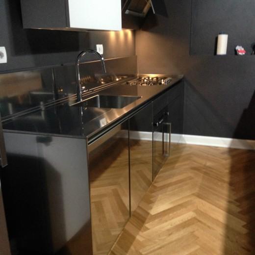 Cucina in acciaio  inox  L 276cm
