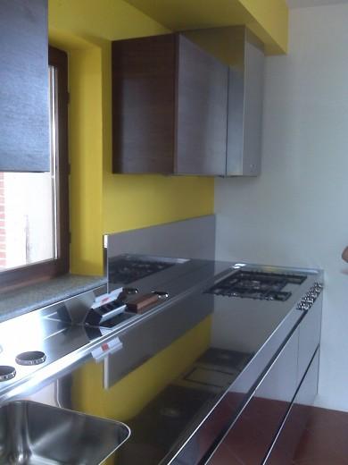 Ruggeri totale 5 C69 Stainless steel kitchen centre width 334 cm Steellart