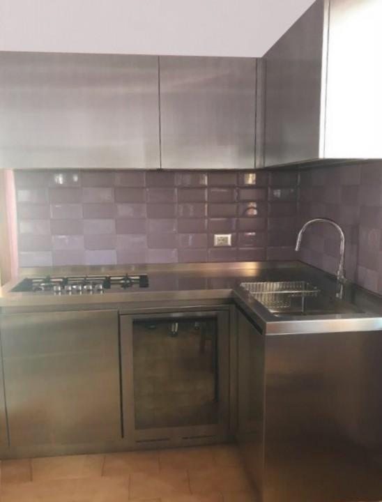 Strano cucina ad angolo inox C163 Cucina in acciaio inox a C Steellart