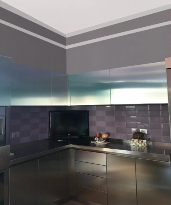 Strano cucina1m C163 Cucina in acciaio inox a C Steellart