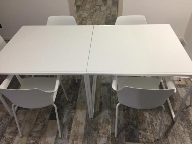 Tavoli e sedie Roby 1rid. IT73Tavoli su misura e sedie Colos Steellart