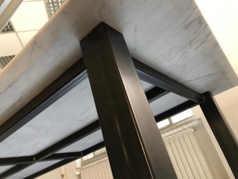Tavolo the table super dettaglio  ID 79 Tavolo ferro e marmo Steellart
