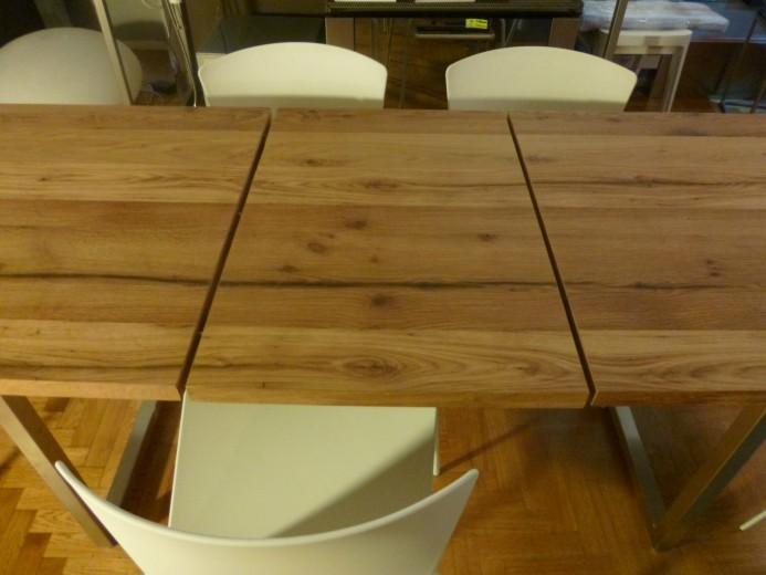Tavolo allungabile inox legno allungo fase 3 ID 62 Tavolo inox/legno allungabile Steellart