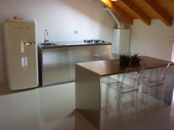 C002 Blocco inox L 184 - Cucine - Steellart - Piacenza