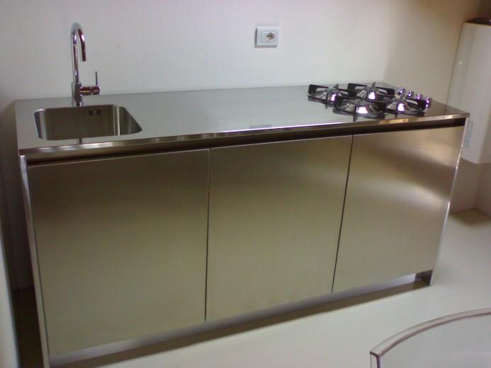 Vassalli Blocco da 180cm C67 Stainless steel kitchen centre width 184 Steellart