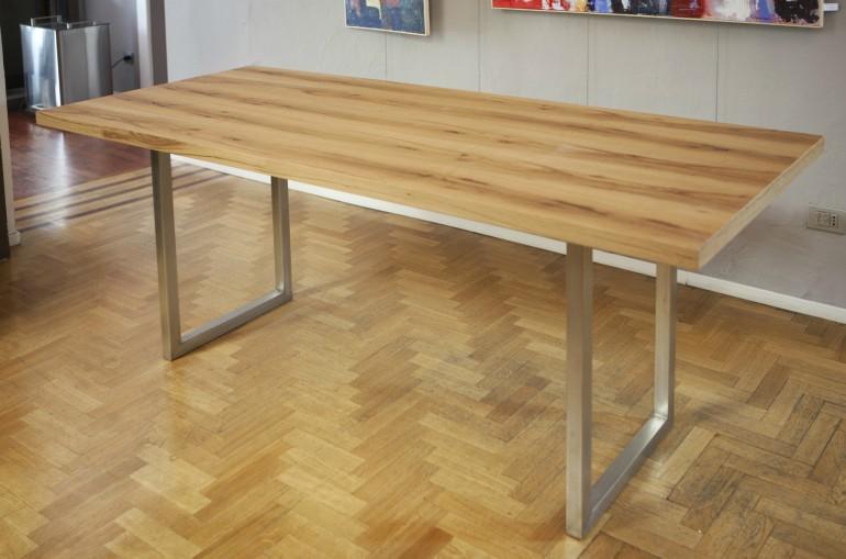 MG 7926(1) A12 Tavolo inox e legno Steellart