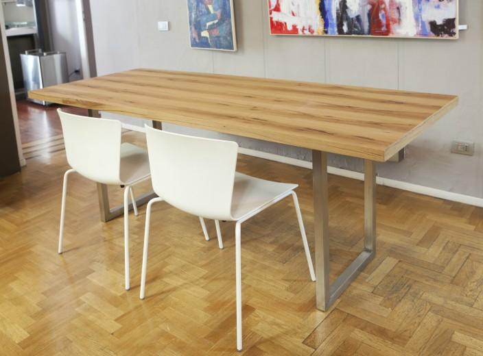 MG 7930(1) A12 Tavolo inox e legno Steellart