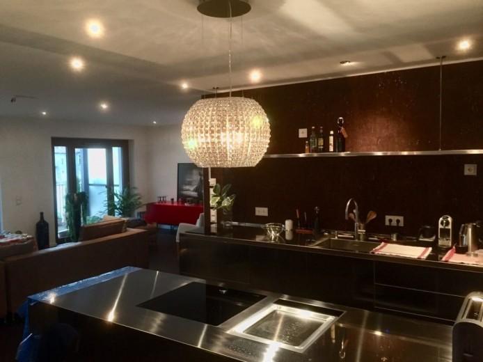 C123 Voll-Edelstahlküche Wand und Halbinsel - Küchen - Steellart