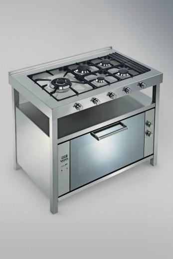 cucinotta C76  Cucina inox  con  elementi freestanding Steellart