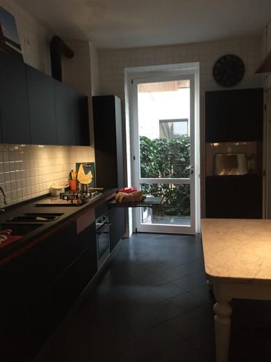 Cucina Black and Wood a Milano