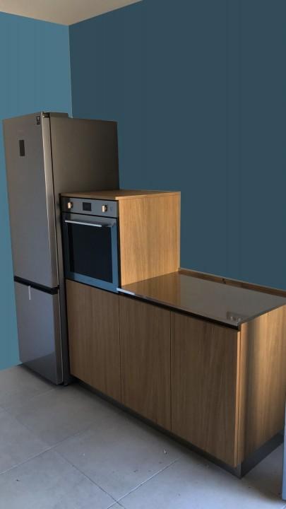 mod1(1) C183 Cucina in acciaio inox e rovere Steellart