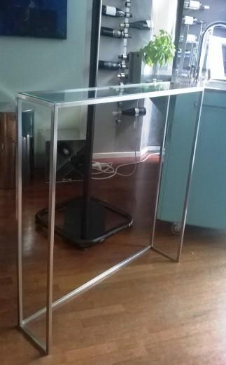 svuotatasche inox vetro 27 ottobre 2016 ID66 tavolino svuotatasche Steellart